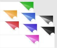 Documenten met hoeken in diverse kleuren Royalty-vrije Stock Fotografie