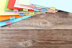 documenten met klemmen Stock Foto