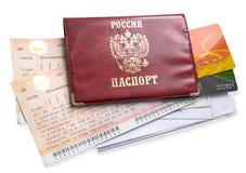 Documenten voor het reizen Royalty-vrije Stock Foto