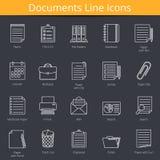 Documentenpictogrammen Vector Illustratie