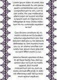 Documentez le calibre pour l'invitation, l'empaquetez, le couvrez, bannière, label, carte postale, carte de mariage, cadres Papie illustration stock