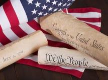 Documenti americani storici Immagini Stock Libere da Diritti