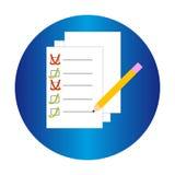 Documenti in anello blu su fondo bianco Fotografie Stock Libere da Diritti