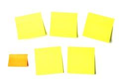 Documenti appiccicosi colorati delle note Fotografia Stock Libera da Diritti