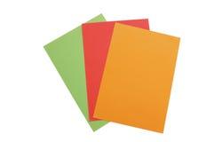 Documenti Colourful Immagine Stock