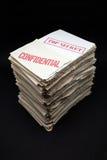 Documenti confidenziali e segreti Fotografia Stock