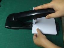 Documenti cuciti con punti metallici Fotografia Stock