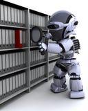 Documenti dell'archivario del robot Immagini Stock Libere da Diritti