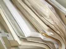 Documenti di carta dell'ufficio Fotografia Stock Libera da Diritti