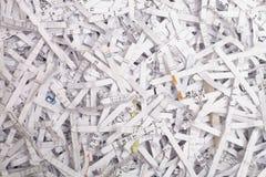 Documenti di carta tagliuzzati Fotografie Stock
