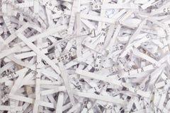 Documenti di carta tagliuzzati Fotografia Stock Libera da Diritti