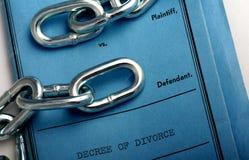 Documenti di divorzio Immagini Stock