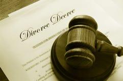 Documenti di divorzio Fotografie Stock Libere da Diritti