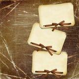 Documenti di Grunge con l'arco su priorità bassa scura Fotografia Stock Libera da Diritti