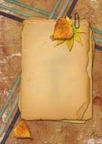 Documenti di Grunge e fogli di autunno Fotografia Stock