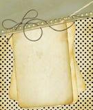 Documenti di Grunge per la priorità bassa del puntino di Polka di disegno Immagine Stock
