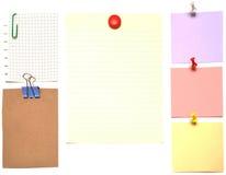 Documenti di nota immagine stock