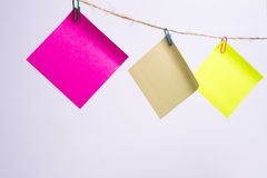 Documenti di nota colorati Fotografie Stock