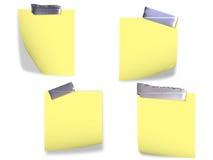 Documenti di nota con nastri adesivi Fotografia Stock Libera da Diritti