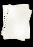 Documenti di nota di vettore Fotografie Stock Libere da Diritti