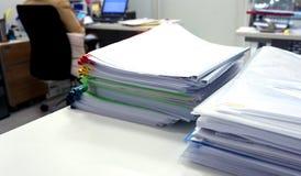 Documenti e dispositivi di piegatura Fotografie Stock