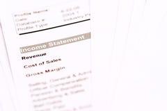 Documenti finanziari Fotografie Stock