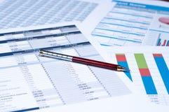 Documenti finanziari Fotografia Stock Libera da Diritti