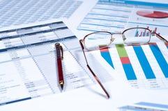 Documenti finanziari Immagine Stock Libera da Diritti