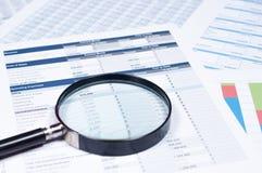 Documenti finanziari Fotografie Stock Libere da Diritti