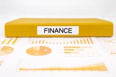Documenti, grafici, contabilità e relazione di audit finanziari per il germoglio Fotografia Stock