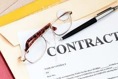 Documenti legali di legge di contratto Fotografie Stock Libere da Diritti