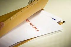 Documenti segreti Immagini Stock