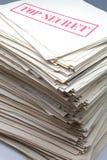 Documenti segreti Immagine Stock