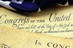 Documenti storici, costituzione di Stati Uniti Fotografie Stock Libere da Diritti