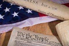 Documenti storici degli Stati Uniti Fotografia Stock