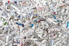 Documenti tagliuzzati Fotografie Stock Libere da Diritti