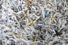 Documenti tagliuzzati Fotografia Stock