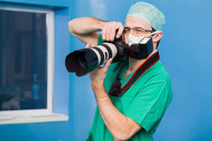 Documenting the surgery Stock Photography
