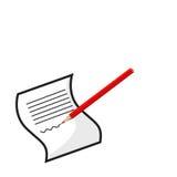Documento stock de ilustración
