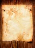 Documento allegato alla parete fotografia stock