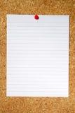 Documento allineato bianco. Immagine Stock
