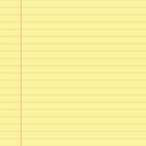 Documento allineato colore giallo Immagini Stock