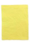 Documento allineato colore giallo sgualcito Immagini Stock Libere da Diritti