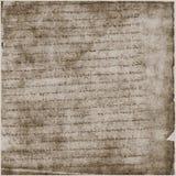 Documento antico del testo della pergamena Immagine Stock Libera da Diritti