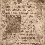 Documento antico del testo della pergamena Fotografie Stock Libere da Diritti