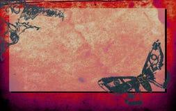 Documento antico della farfalla Fotografie Stock Libere da Diritti