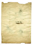 Documento antiguo en blanco viejo sobre el fondo blanco imagen de archivo libre de regalías