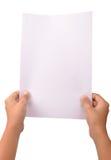 Documento in bianco Immagini Stock Libere da Diritti