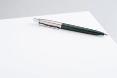 Documento in bianco Fotografia Stock Libera da Diritti