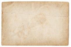 Documento in bianco della foto dell'annata isolato Fotografia Stock